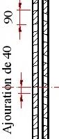 brise vue claustra fixe style persienne toute hauteur dans cadre assembl brise vue cadre. Black Bedroom Furniture Sets. Home Design Ideas