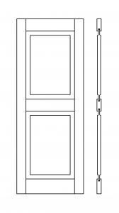 porte de service bois battante panneau toute hauteur dans. Black Bedroom Furniture Sets. Home Design Ideas