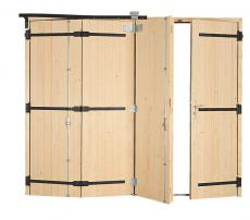 Porte de garage bois accord on style pour particulier pga27t for Fabrication porte garage bois 2 vantaux