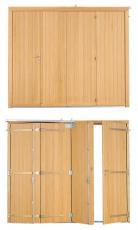 Porte de garage bois accord on tablier frise verticale pga32p - Porte de garage accordeon ...