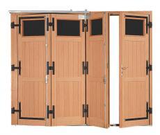 Porte de garage bois accord on style ile de france pour particulier pga32pplv - Porte de garage accordeon ...
