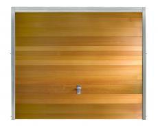 Porte de garage bois basculante style contemporain pour particulier pgb16p h1 - Porte de garage basculante bois ...