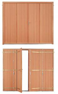 porte de garage bois la fran aise tablier frise verticale. Black Bedroom Furniture Sets. Home Design Ideas