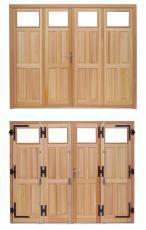 porte de garage bois la fran aise pour particulier. Black Bedroom Furniture Sets. Home Design Ideas