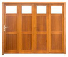 Porte de garage bois lat rale coulissante panneau lame verticale toute hauteu - Porte de grange coulissante en bois ...