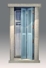 volet bois repliable en tableau style ile de france pour. Black Bedroom Furniture Sets. Home Design Ideas