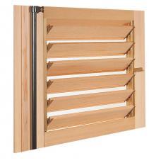 volet bois battant style persienne toute hauteur dans cadre assembl persienne orientable toute. Black Bedroom Furniture Sets. Home Design Ideas