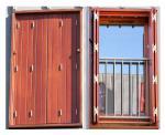 volet bois repliable en tableau tablier frise verticale. Black Bedroom Furniture Sets. Home Design Ideas