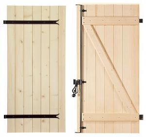 volet bois battant tablier frise verticale avec barre echarpe. Black Bedroom Furniture Sets. Home Design Ideas
