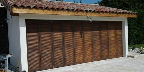 Préférence Exemples de réalisations de chantiers de fermetures bois, portes  LM92