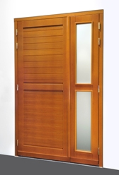 les blocs portes de service en bois. Black Bedroom Furniture Sets. Home Design Ideas