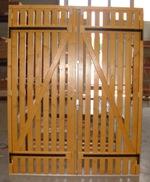 Porte de service en bois claire voie gpf fermetures bois - Porte a claire voie ...