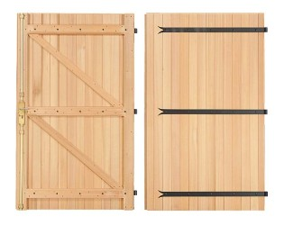 Les portes de garage en bois for Porte double battant exterieur