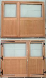 Porte De Garage Bois à Panneaux Plate Bande GPF Fermetures Bois - Porte de garage bois 2 vantaux